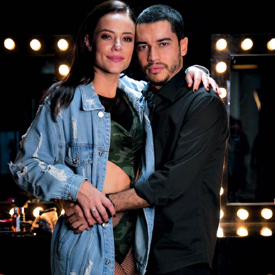 Com Paolla Oliveira nos bastidores da novela A dona do pedaço