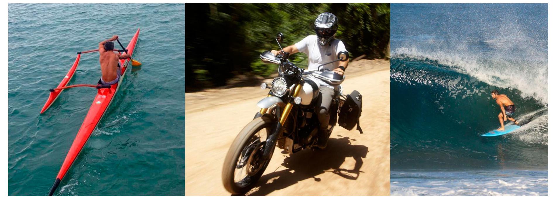 Rolê de moto na ilha