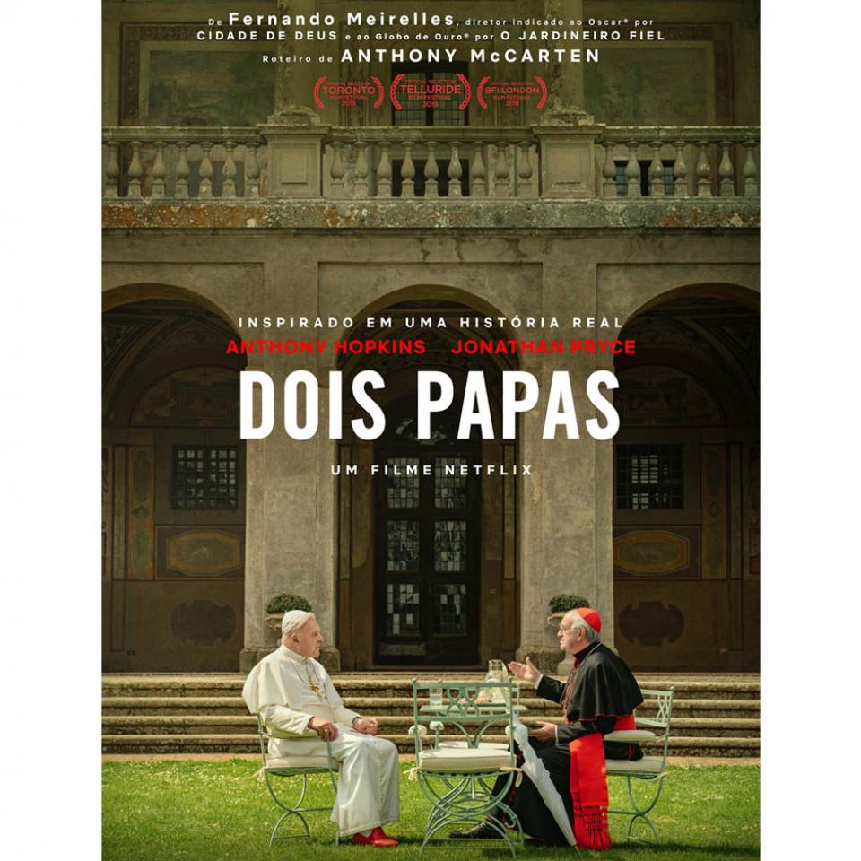 """O longa-metragem """"Dois Papas"""" recebeu quatro indicações ao Globo de Ouro e despontado cotado para o Oscar"""