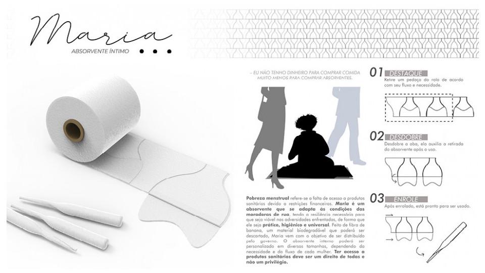 O protótipo de absorvente descartável e sustentável criado por Rafaella
