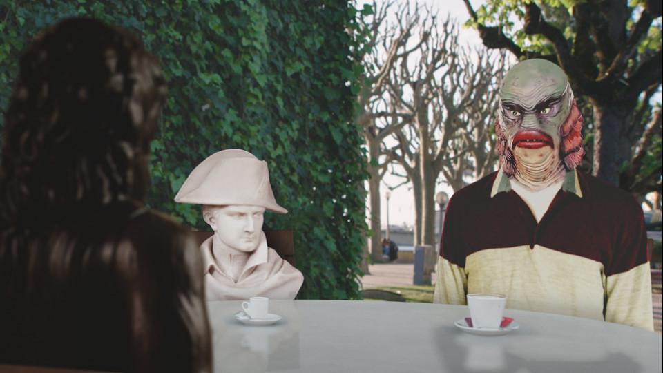 Busto e Renato Alexandre, conversam com Bussaco (de costas), os três grandes amigos de Bruno Aleixo
