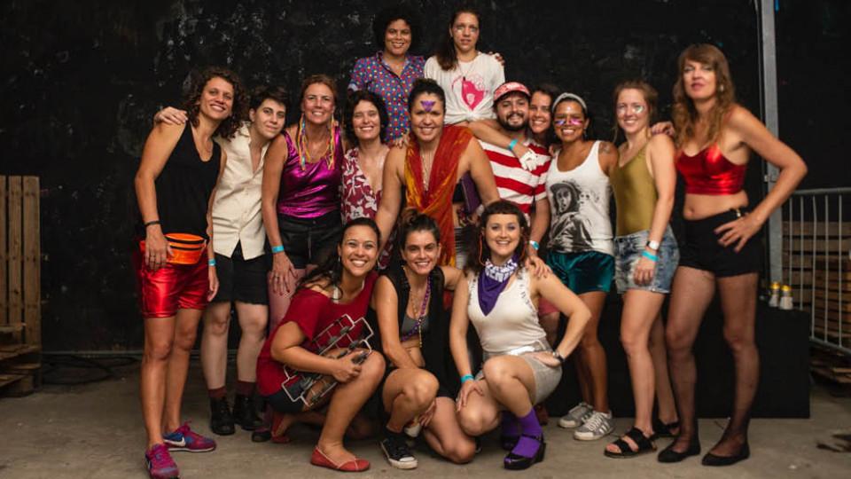 As integrantes do Toco-Xona, referência em sapatonice no Rio de Janeiro