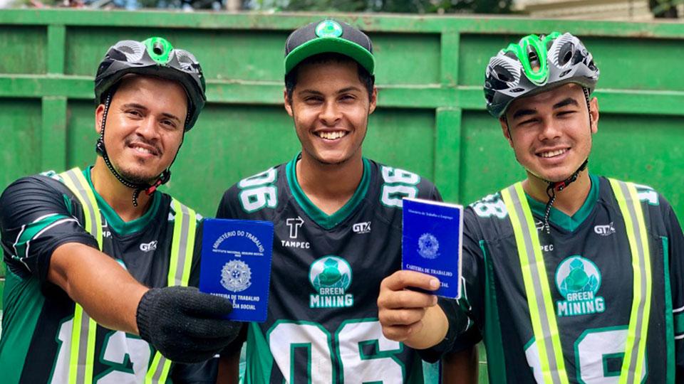 Colaboradores da Green Mining no Hub Pinheiros, o primeiro lançado em São Paulo
