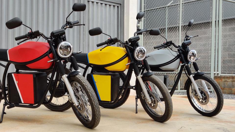 Motos elétricas da Origem Motos