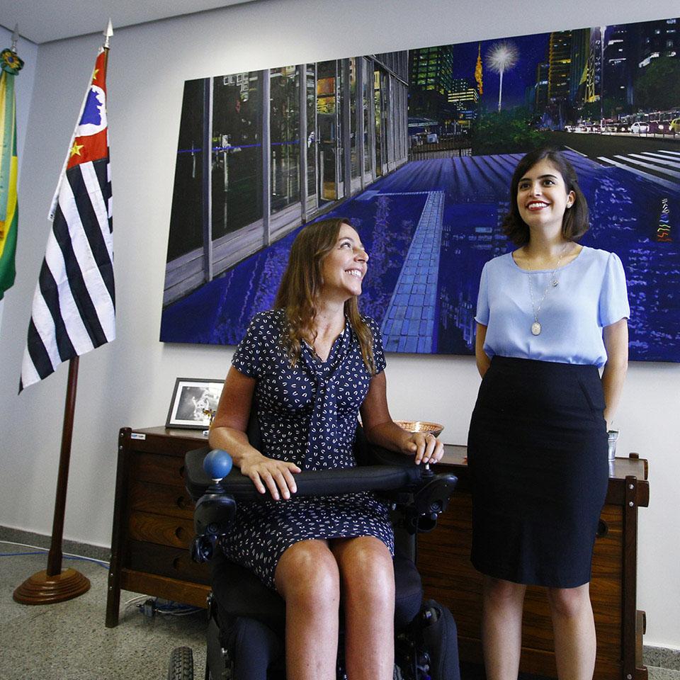 Mara Gabrilli e a deputada federal Tabata Amaral, idealizadora do Vamos Juntas