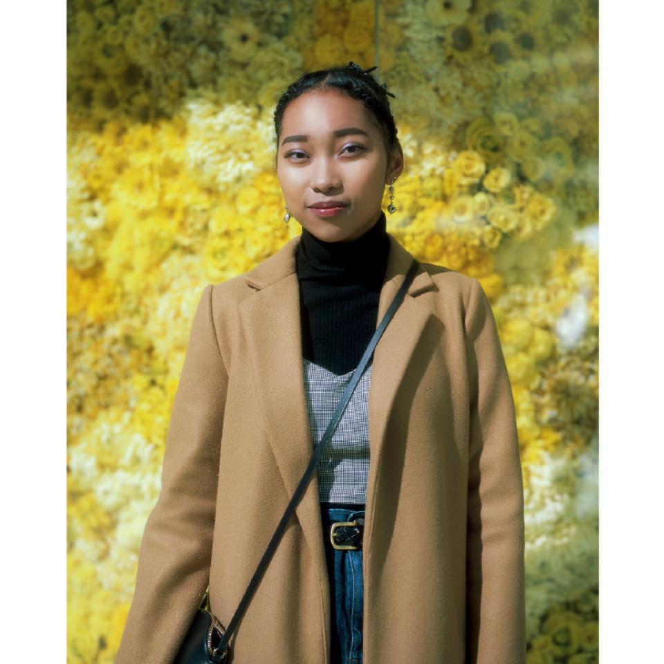Ugawa Aja Maica, 17 anos, estudante, filha de pai afro-americano e mãe japonesa