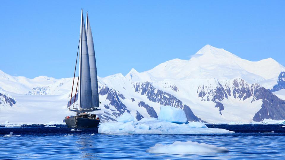 Em Peltier Channel, na Antártica, em 2011
