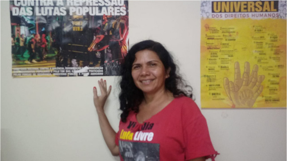 Neila Gomes está usando a articulação do Movimento Nacional de Luta Pela Moradia para conseguir recursos e doações para o enfrentamento em Belém nas favelas e ocupações