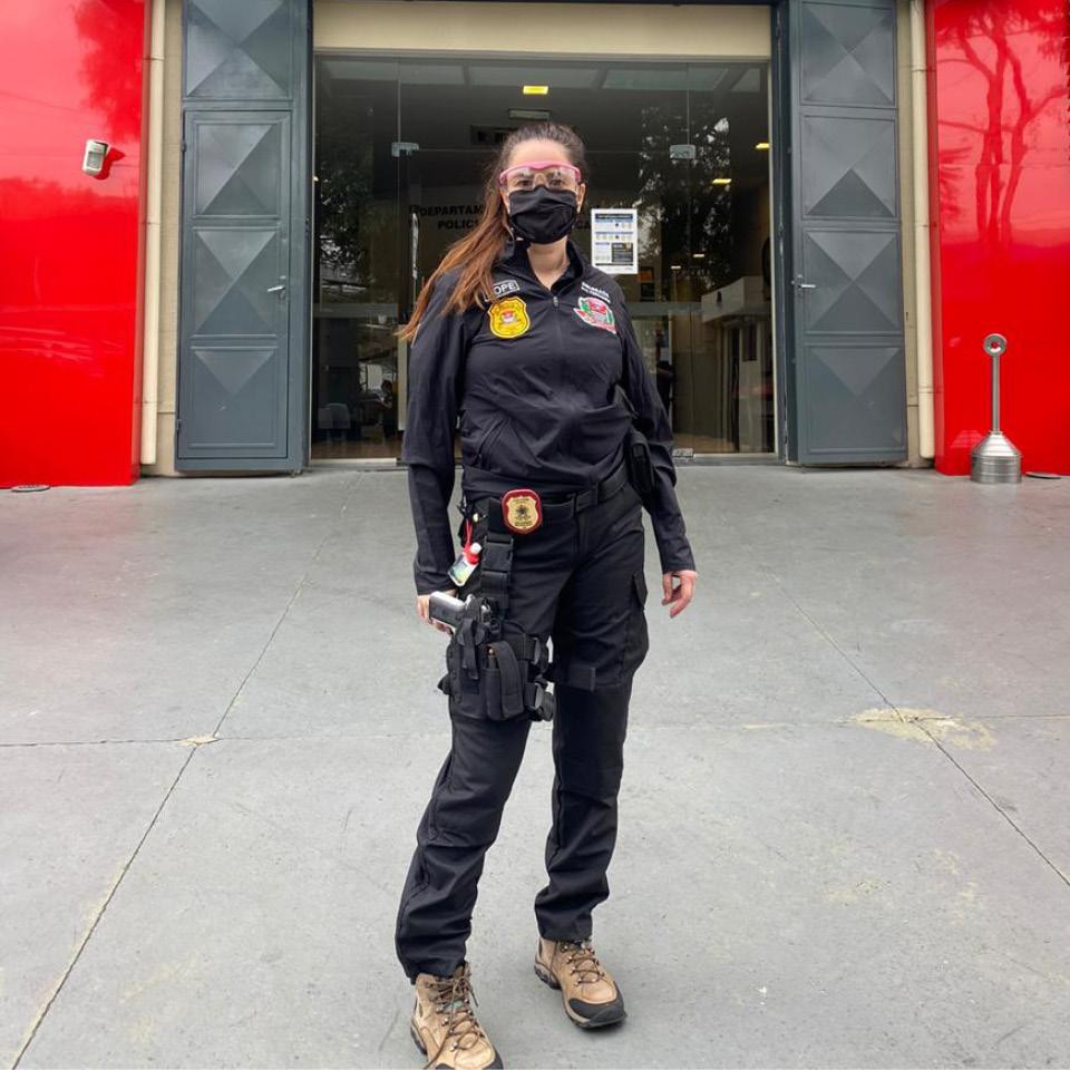 Fernanda Herbella, delegada-chefe da unidade do aeroporto de Congonhas, segue trabalhando em área de risco de contágio