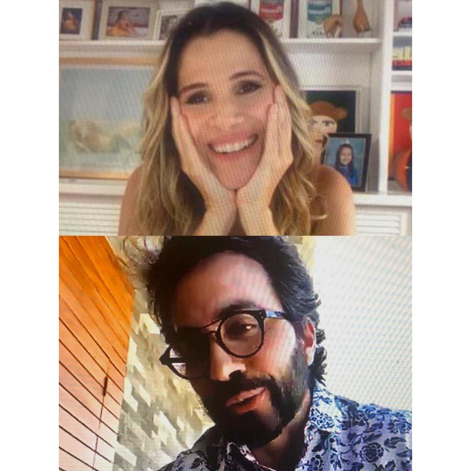 Padre Fábio de Melo conversa com a atriz do primeiro episódio da temporada