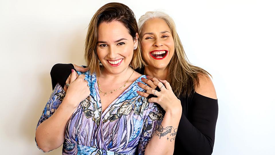 Fafá de Belém com a filha, Mariana, que a ensinou a fazer lives