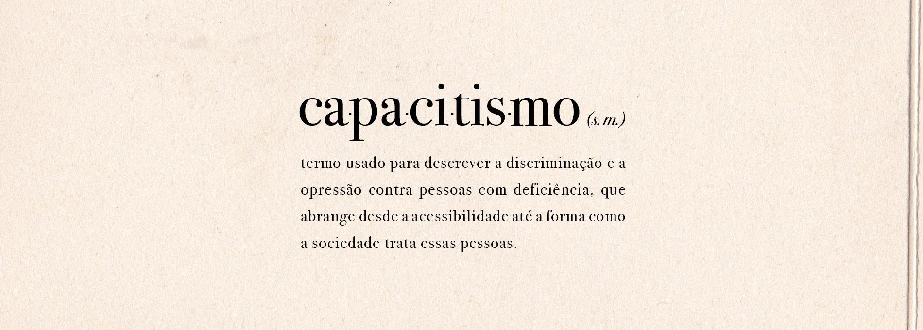 Definição de capacitismo