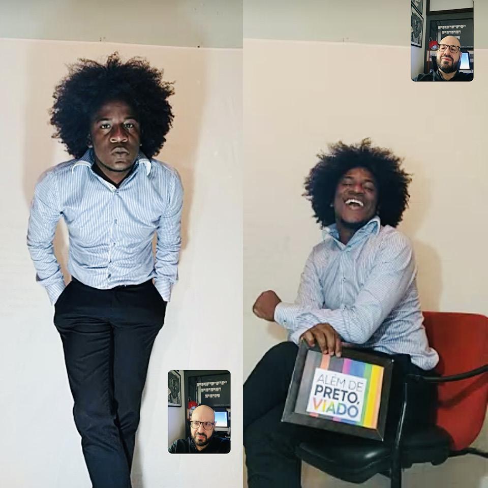 Lázaro da Silva, 30 anos, está à frente da comunidade do Facebook Afrodengo LGBTT+