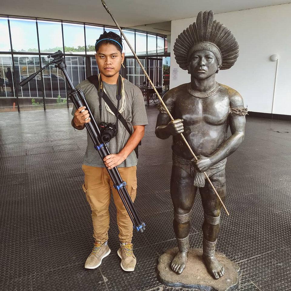 O xavante de 22 anos Cristian Wariu Tseremey'wa