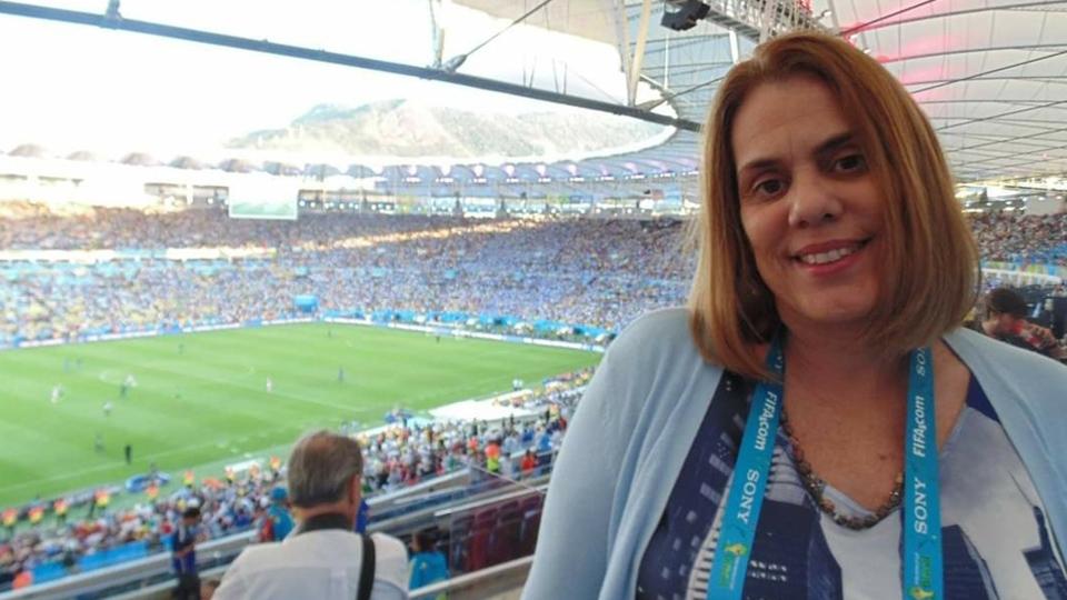 A jornalista esportiva Martha Esteves