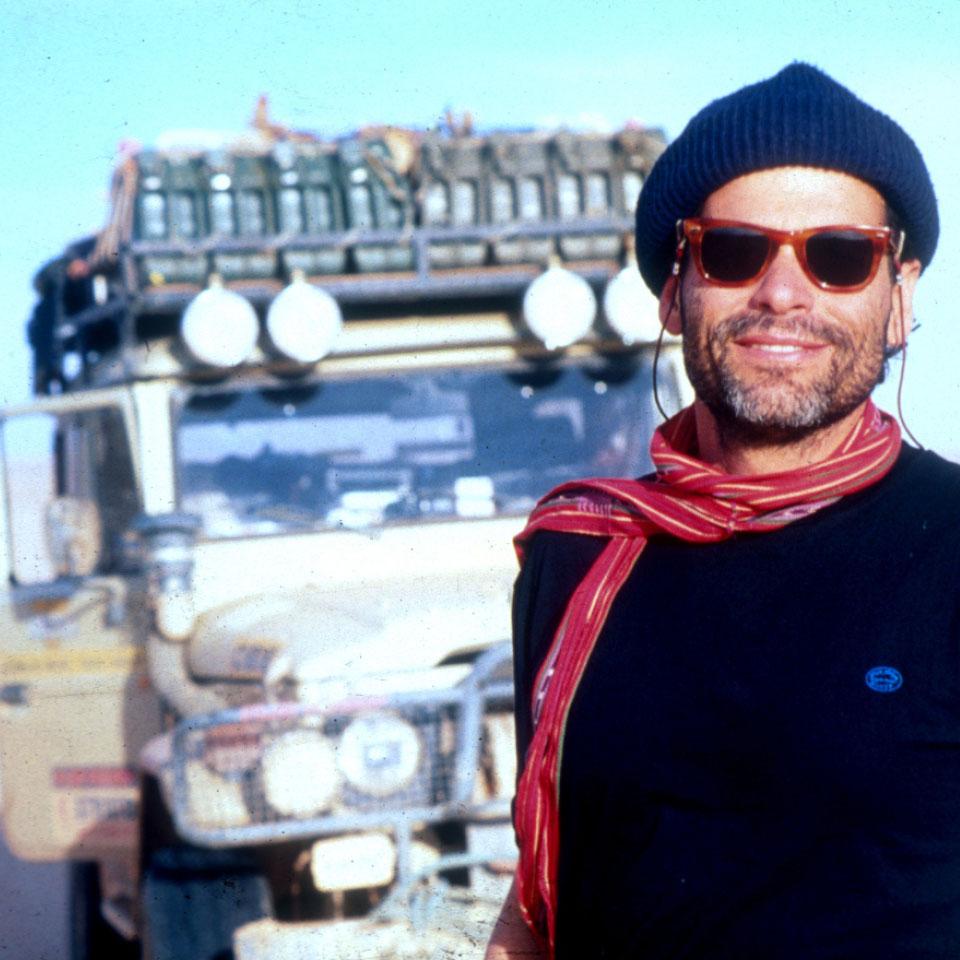 Tito Rosemberg em viagem ao Deserto do Saara, na Argélia, em 1988