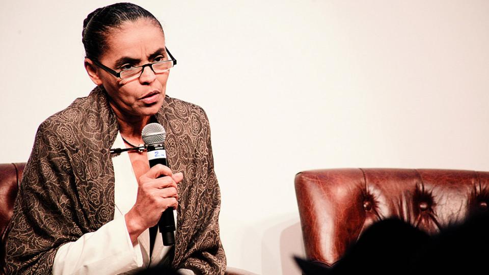 Marina Silva em evento de lançamento do prêmio Trip Transformadores, em 2013