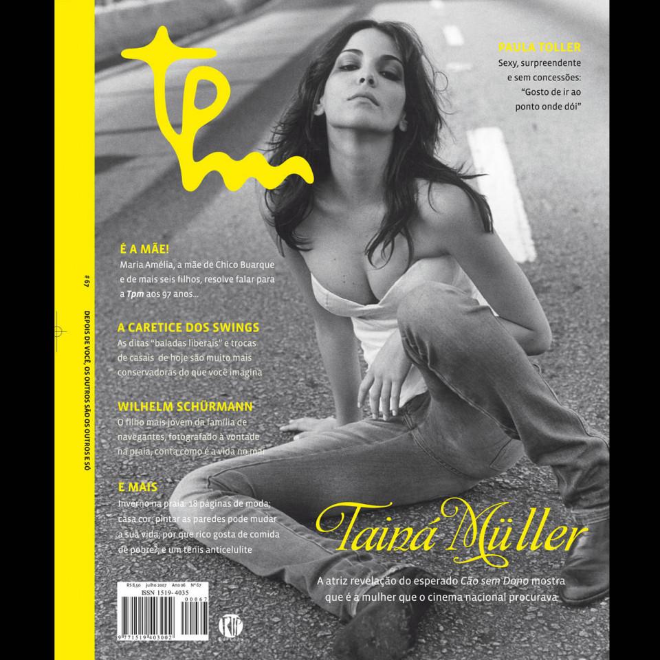 Tainá Müller na capa da revista TPM #67 (2007)