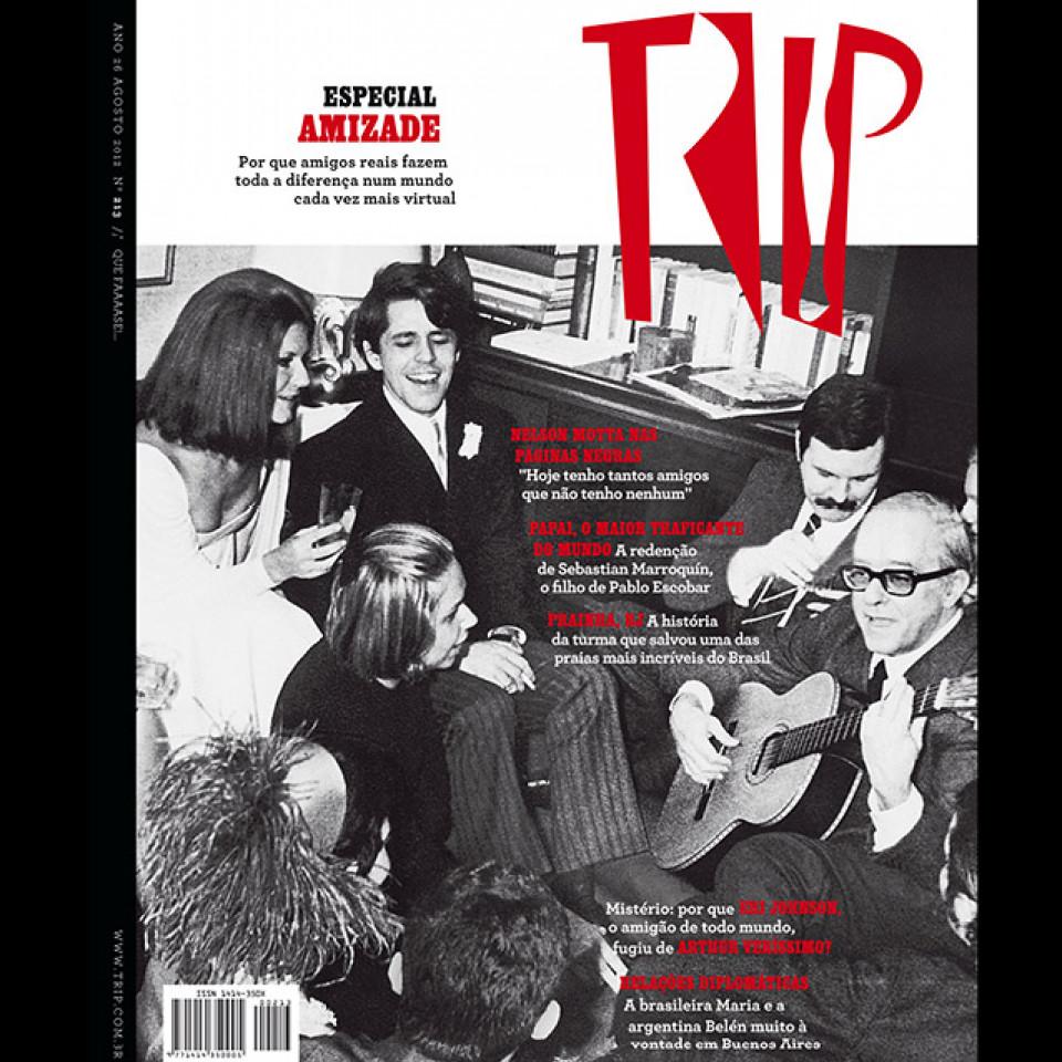 Nelson Motta na capa da revista Trip #213 em 2012