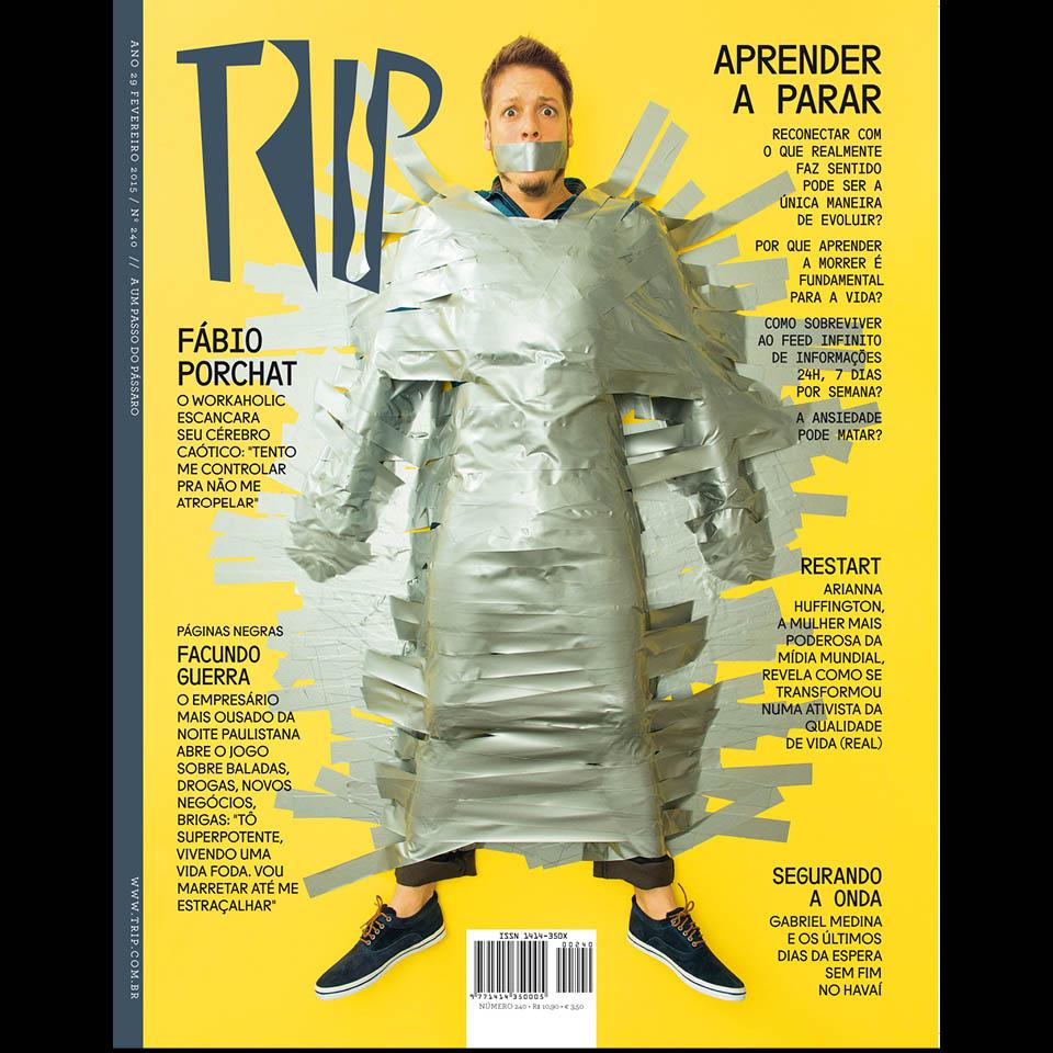 Fábio Porchat, capa da revista Trip #240