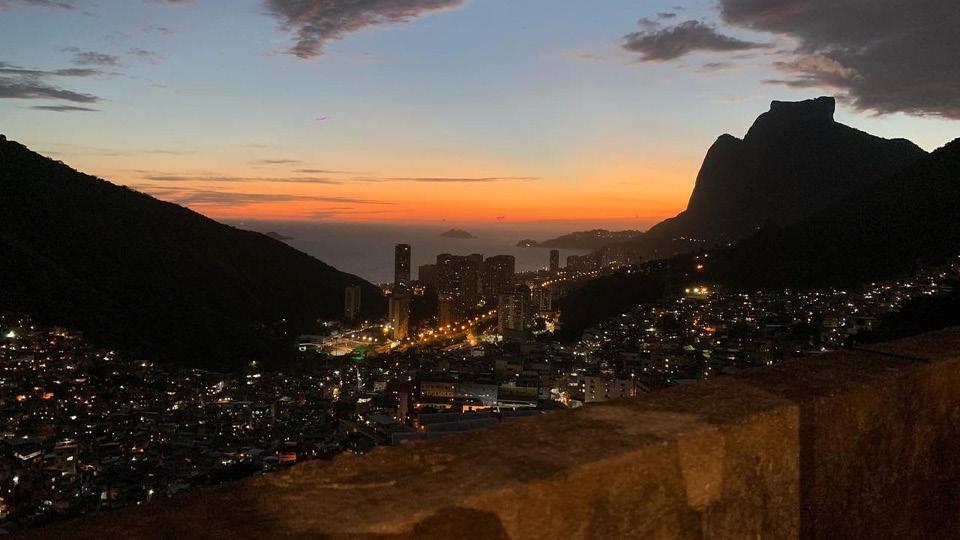 Vista da laje de Reginaldo, alugada para a produção do Projeta Rocinha