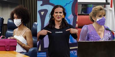 Erika Hilton, Duda Salabert, Linda Brasil - vereadoras transexuais