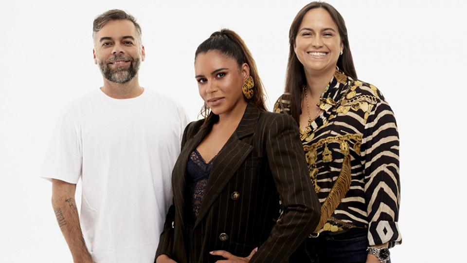 Ao lado de Amanda Gomes e Pedro Tourinho, seus sócios na MAP, empresa de agenciamento de famosos