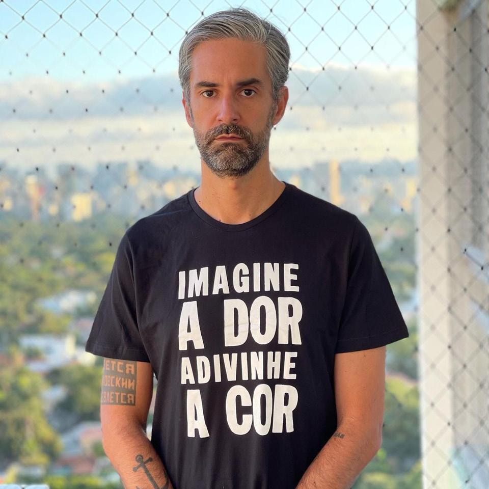Augusto Arruda Botelho Camiseta Preta Contra Racismo