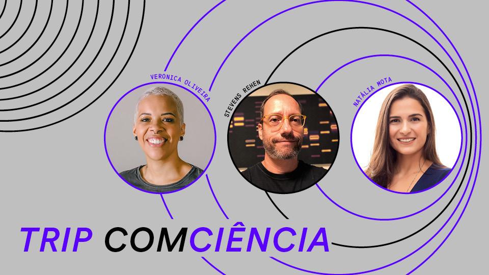 Veronica Oliveira, Stevens Rehen e a neurocientista Nátalia Mota discutem como o sono nos ajuda a lidar com eventos traumáticos como a pandemia e seus efeitos em nossa saúde mental