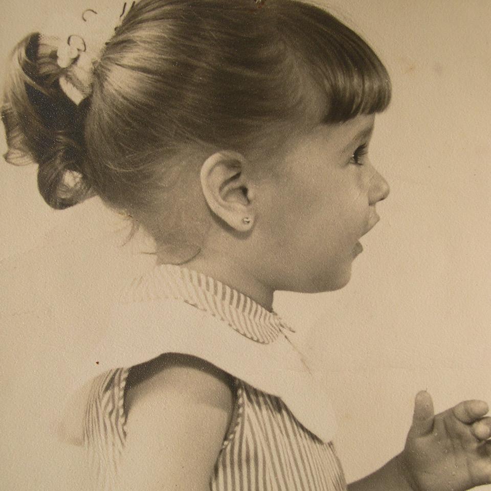 Claudia Lisboa aos 4 anos