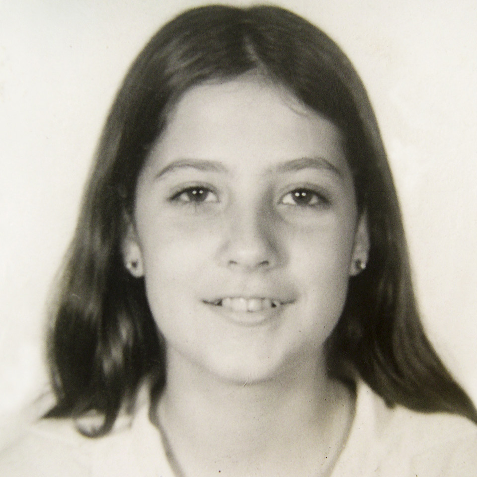 Claudia Lisboa aos 15 anos, quando morou em Porto Alegre