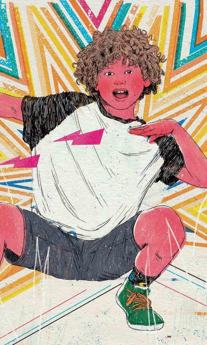 ilustração criança influenciadora