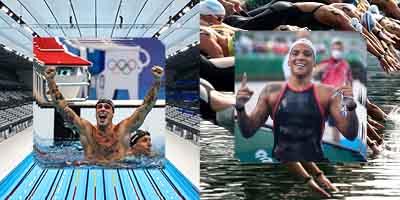 Nadadores Bruno Fratus Piscina e Ana Marcela Mar aberto