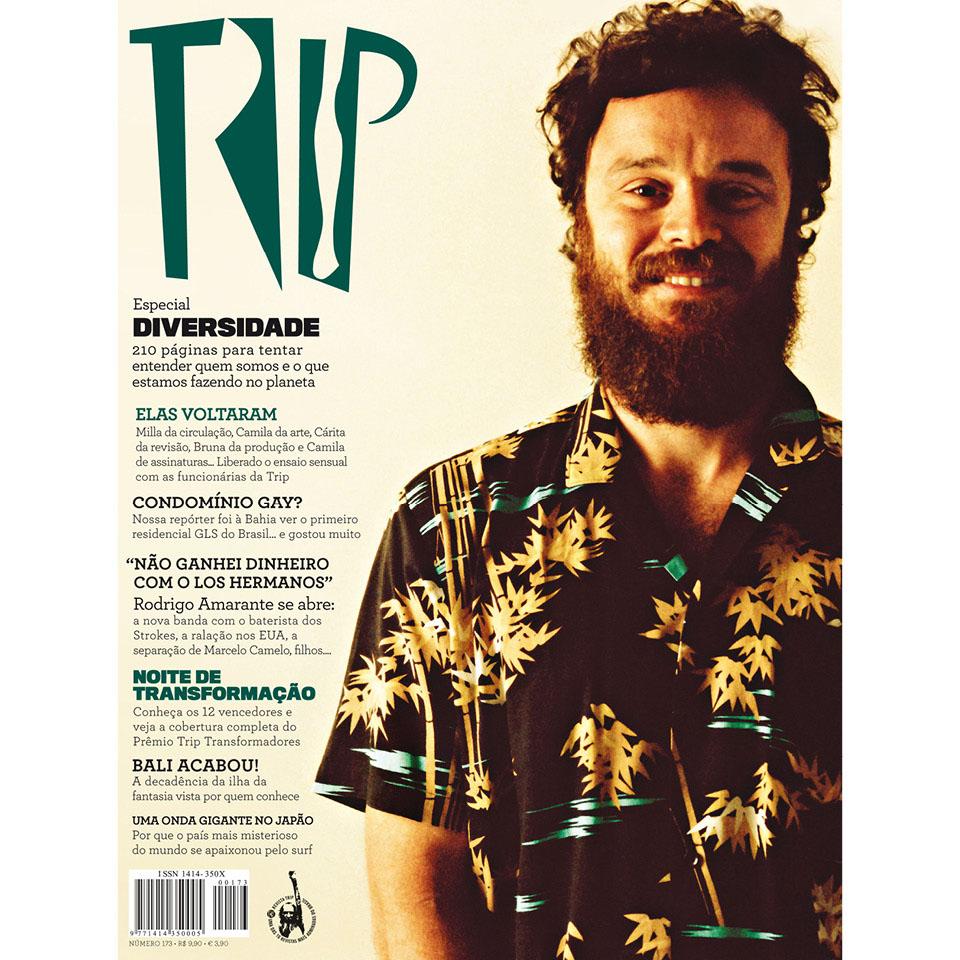 Rodrigo Amarante na capa da revista TRIP #173 (2008)