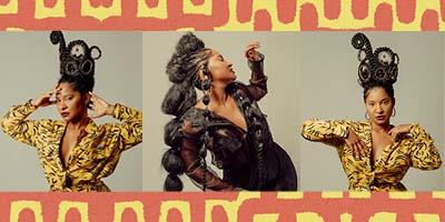 Retratos de Larissa Luz Afrofuturista