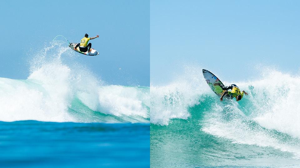 O backflip de Gabriel Medina levantou o público que estava acompanhando da areia as finais de World Surf League em Trestles, na Califórnia